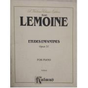 Henri Lemoine Etudes Enfantines Opus 37 for Piano K03610 Kalmus