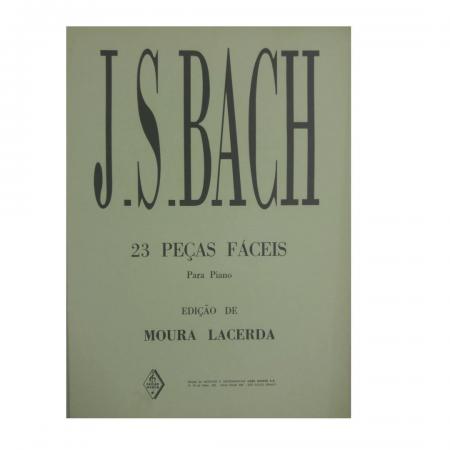 J.S. BACH - 23 PEÇAS FÁCEIS PARA PIANO ( Moura Lacerda ) MN0001015