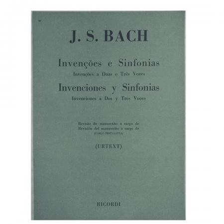 J. S. Bach - invenções e sinfonias a duas e três vozes - Rb0017