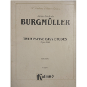 Johann Friedrich BURGMULLER Twenty-Five Easy Etudes Opus 100 for Piano K03274