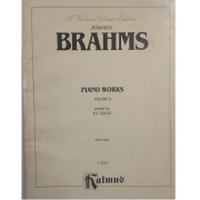 Johannes BRAHMS Piano Works Volume II edited by E.V. Sauer for Piano K03255 - Kalmus