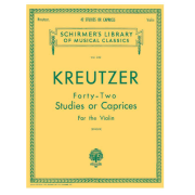 Kreutzer - 42 Studies Or Caprices For The Violin Schirmer Library Of Classics Volume 230 - HL50253620