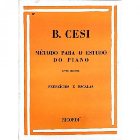 MÉTODO PARA O ESTUDO DO PIANO - Volume 2 - B. Cesi Exercícios e escalas RB0012