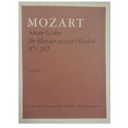 Mozart Sonate G-dur fur Klavier zu vier Handen KV357 Lemacher - 3011