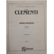 Muzio CLEMENTI Piano Sonatas Volume 1 Nos. 1 - 7 for Piano K09821 Kalmus