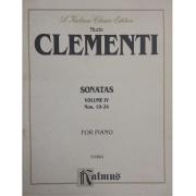 Muzio CLEMENTI Sonatas volume IV Nos. 19-24 for Piano K09824 - Kalmus