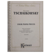Peter Ilyich Tschaikowsky Four Piano Pieces for Piano k 04059 Kalmus