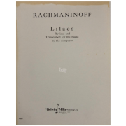 Rachmaninoff Lilacs Revised and Transcribed for the Piano by the composer F2058