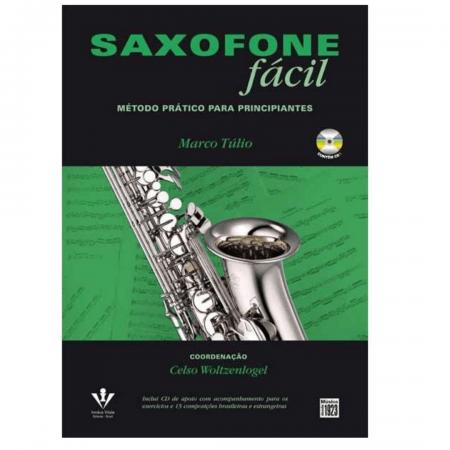 Saxofone Fácil Método Prático Para Principiantes - Com CD - Marco Túlio - 425M