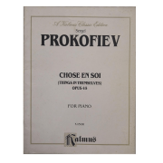 Sergei Prokofiev Chose En Soi ( Things in Tremselves ) Opus 45 for Piano K 05088 Kalmus