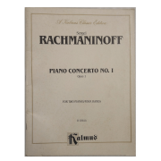 Sergei Rachmaninoff Piano Concerto No. I Opus 1 for Two Pianos/four Hands K 03814 Kalmus