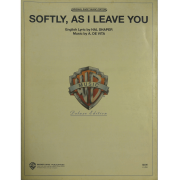 Softly, As I Leave You - English Lyric by Hal Shaper Music by A. De Vita - T3940SPV