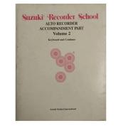 Suzuki Recorder School Alto Recorder Accompaniment Part Volume 2 Keyboard and Continuo - 0550