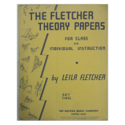 The Fletcher Theory Papers for Class or Individual Instruction by Leila Fletcher Book 3 - BM10033