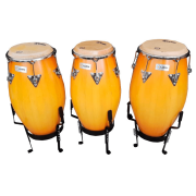 Trio de Conga Serie Tribo 10 1/2, 11 1/2 e 12 1/2 Pint Honey Burst Luen 49130HB - SEM SUPORTE