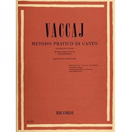 VACCAJ Método Prático Di Canto (Contralto o Basso)[Book & CD] Text in English & Italian ER2892