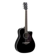 Violão Yamaha FGX-720SCA Folk Eletroacústico Aço Preto