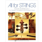 Violin 85VN All for strings theory workbook 2 by robert frost (author), Gerald Anderson 85VN