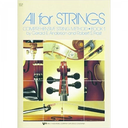 Violin All For Strings Comprehensive String Method Book1 by Gerald E. Anderson and Robert S.F- 78VN