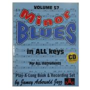 Volume 57 Minor Blues In All Keys, Jamey Aebersold Jazz - Para todos os instrumentos V57DS