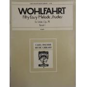 Wohlfahrt Fifty Easy Melodic Studies para Violino, Op. 74 Book 1 - L142