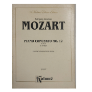 Wolfgang Amadeus Mozart Piano Concerto No. 12 K414 in A Major for Two Pianos/Four Hands K 02037