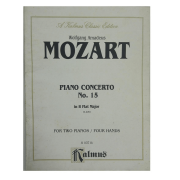 Wolfgang Amadeus Mozart Piano Concerto No. 15 in B Flat Major K450 for Two Pianos/Four Hands K03714