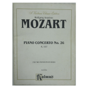 Wolfgang Amadeus Mozart Piano Concerto No. 26 K 537 for Two Pianos / Four Hands K 03720 Kalmus