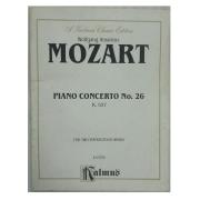 Wolfgang Amadeus Mozart Piano Concerto No. 26 K 537 for Two Pianos / Four Hands K 03720 Kalmus