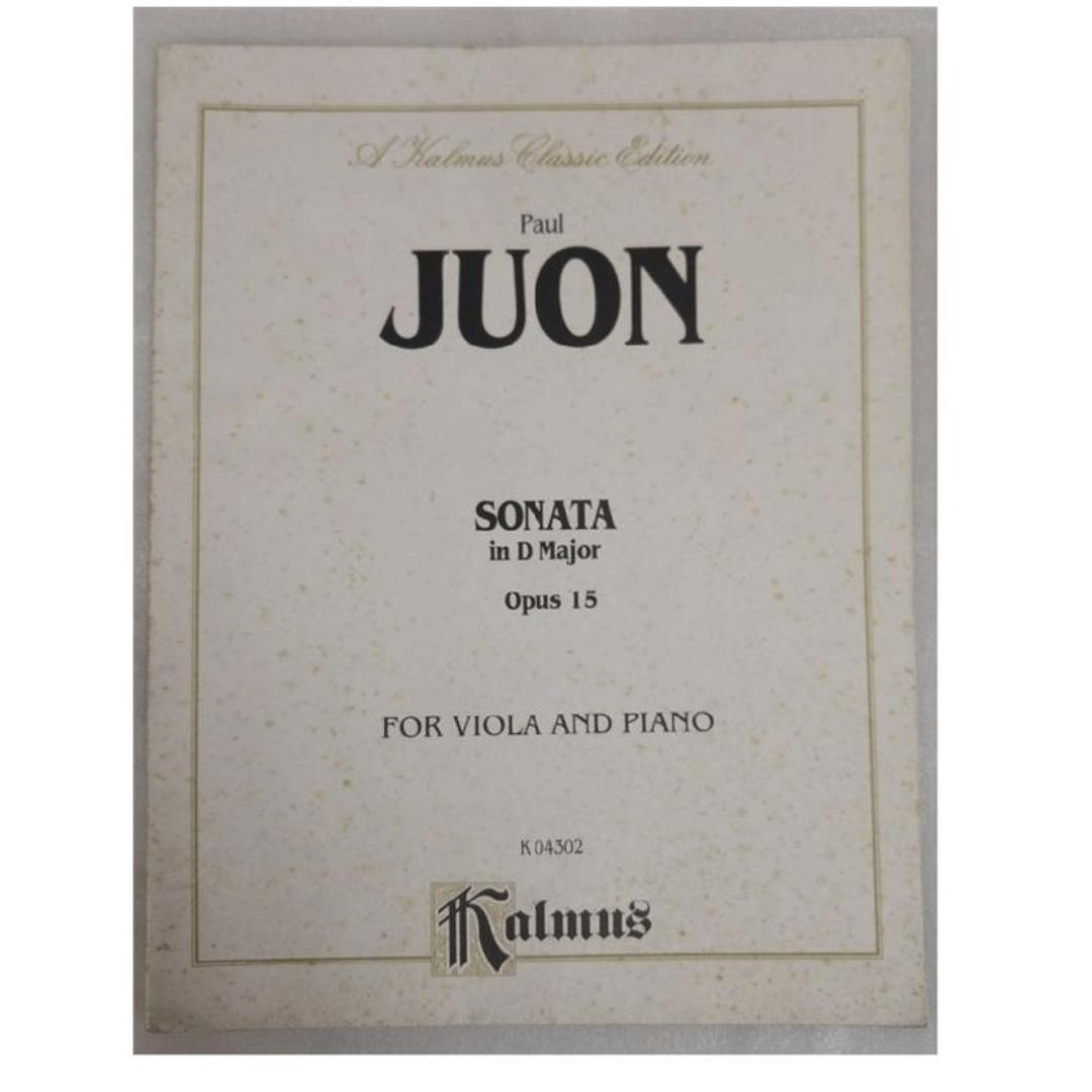 A kalmus classic edition Paul Juon - Sonata in D Major Opus 15 Para viola e piano