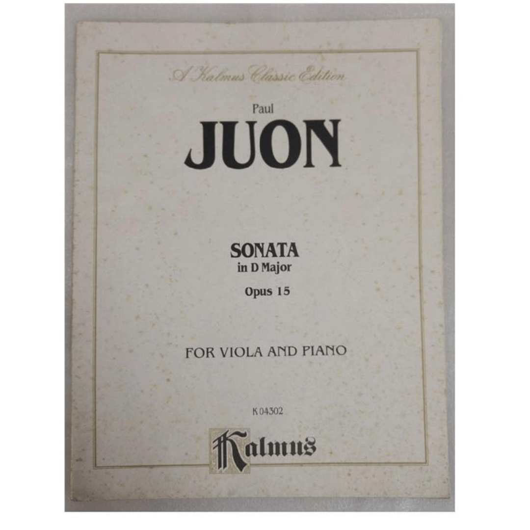 A kalmus classic edition Paul Juon - Sonata in D Major Opus 15 Para viola e piano