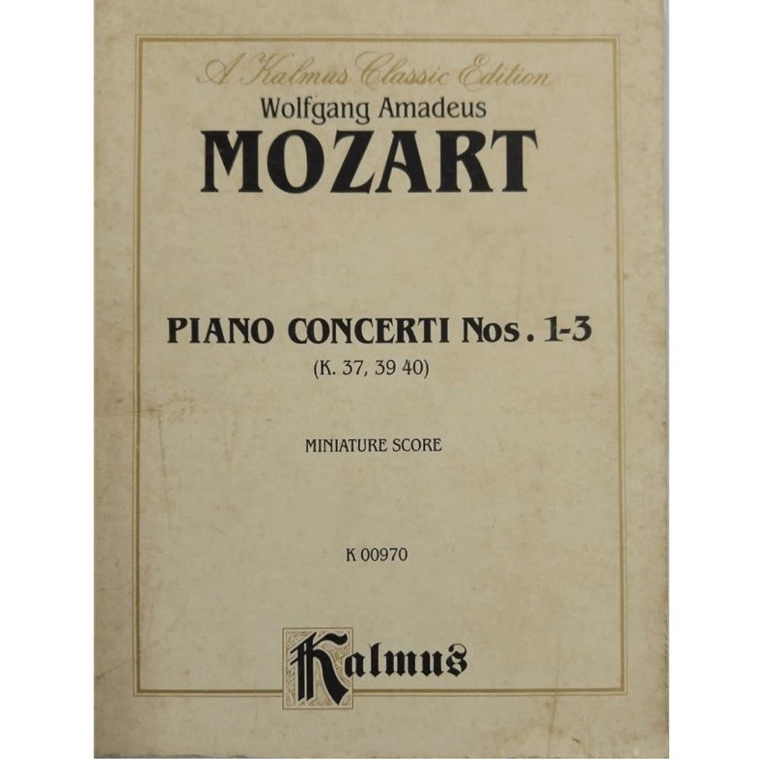 A Kalmus Classic Edition - Wolfgang Amadeus MOZART - Piano Concerti Nos. 1-3 ( k.37,39 40 ) Miniatur K00970