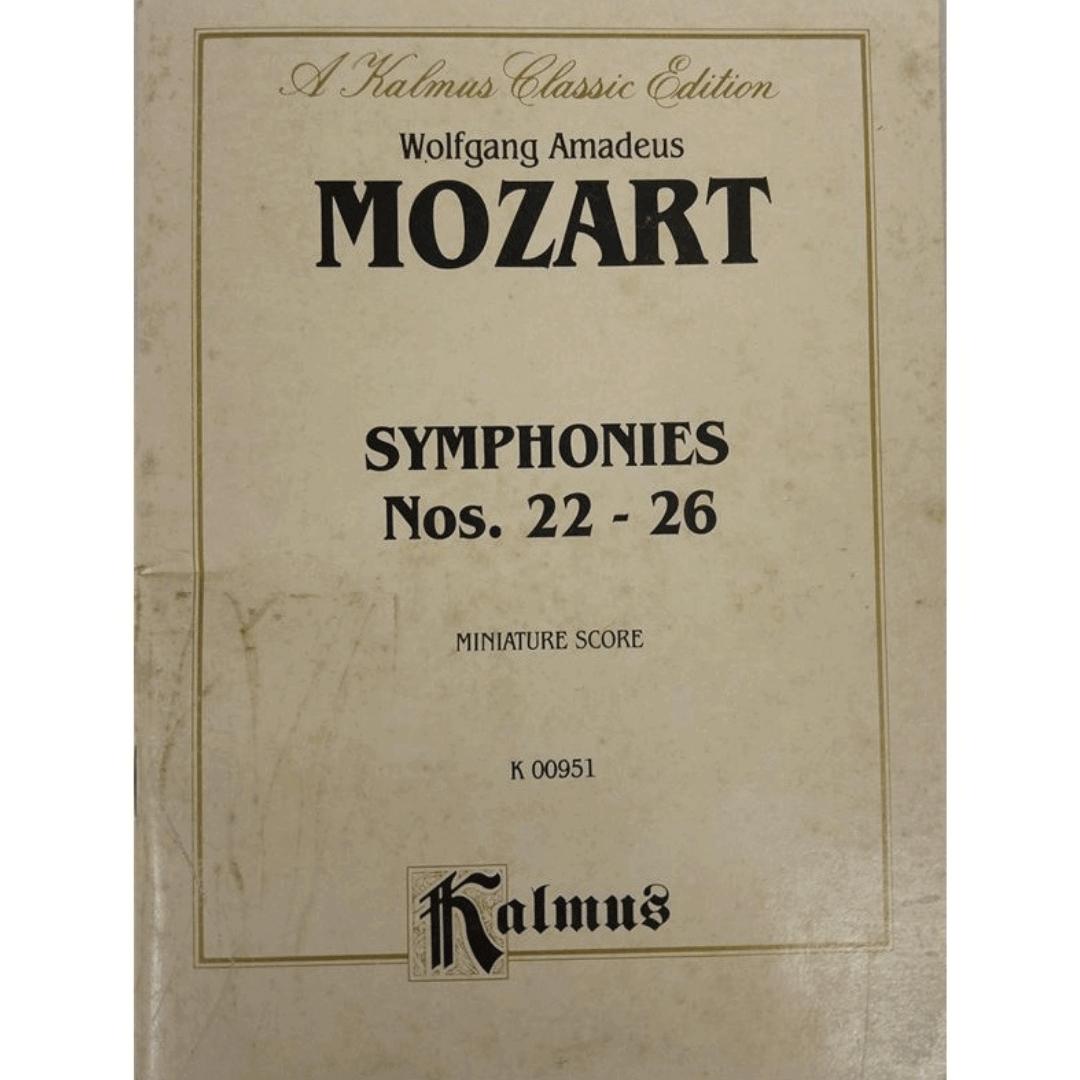 A kalmus Classic Edition - Wolfgang Amadeus MOZART - Symphonies Nos. 22 - 26 Miniature Score K00951