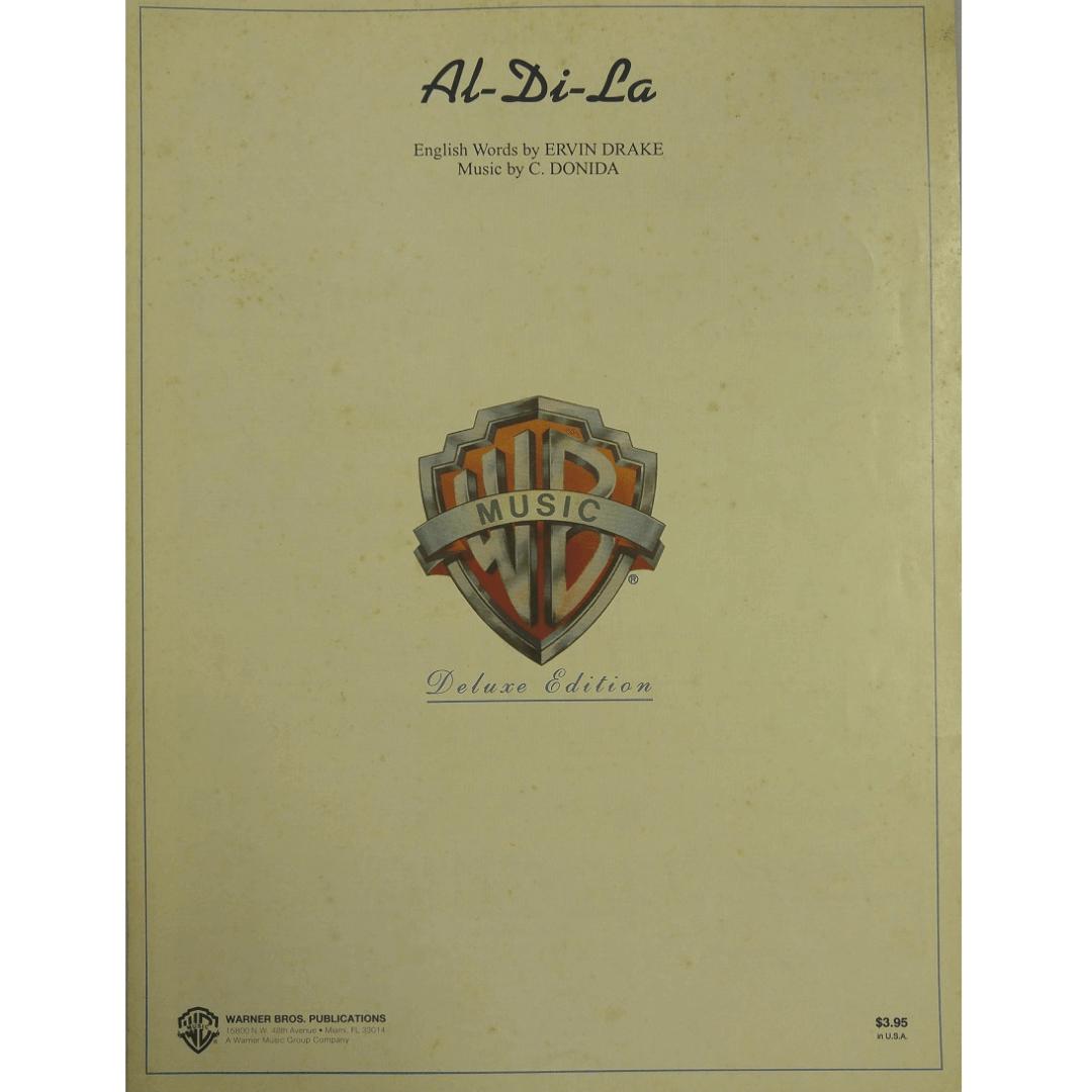 Al-Di-La English Words by Ervin Drake Music by C. Donida - VS0186