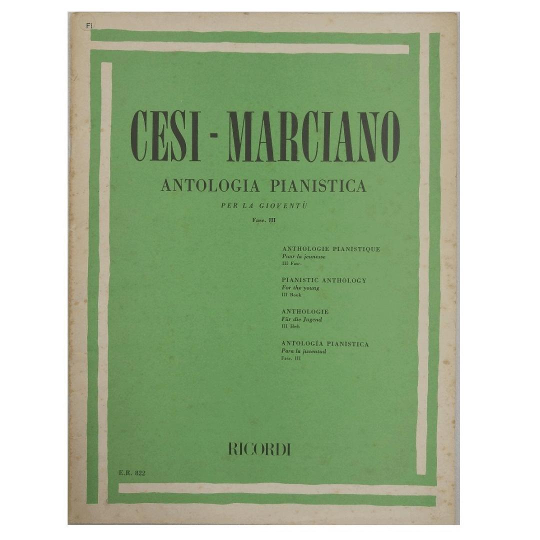 ANTOLOGIA PIANÍSTICA PER LA GIOVENTU- Fase III Cesi - Marciano - ER822