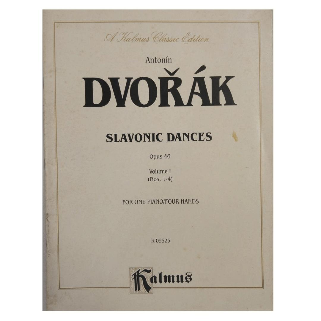 Antonín Dvorak Slavonic Dances Opus 46 Volume I (Nos.1-4) for one Piano/four Hands K09523 Kalmus