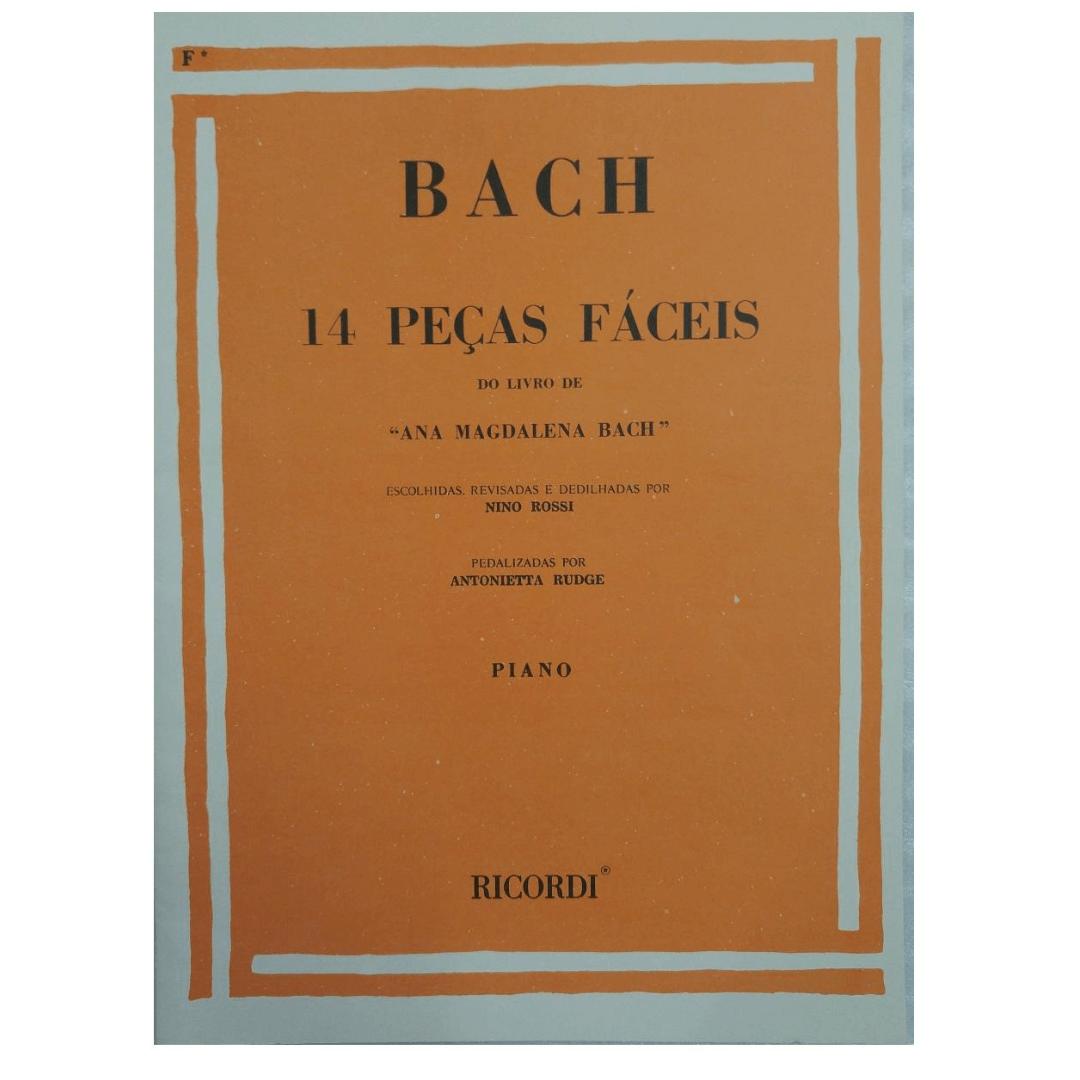 """BACH - 14 PEÇAS FÁCEIS - Do Livro de """"Ana Magdalena Bach"""" Piano - RB0042"""