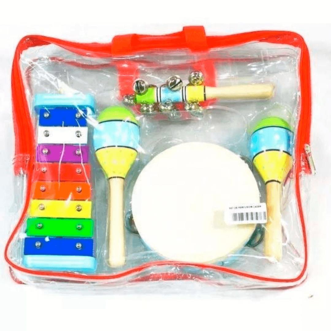 Bandinha Rítmica Infantil 04 instrumentos Percussão Ascent JB565