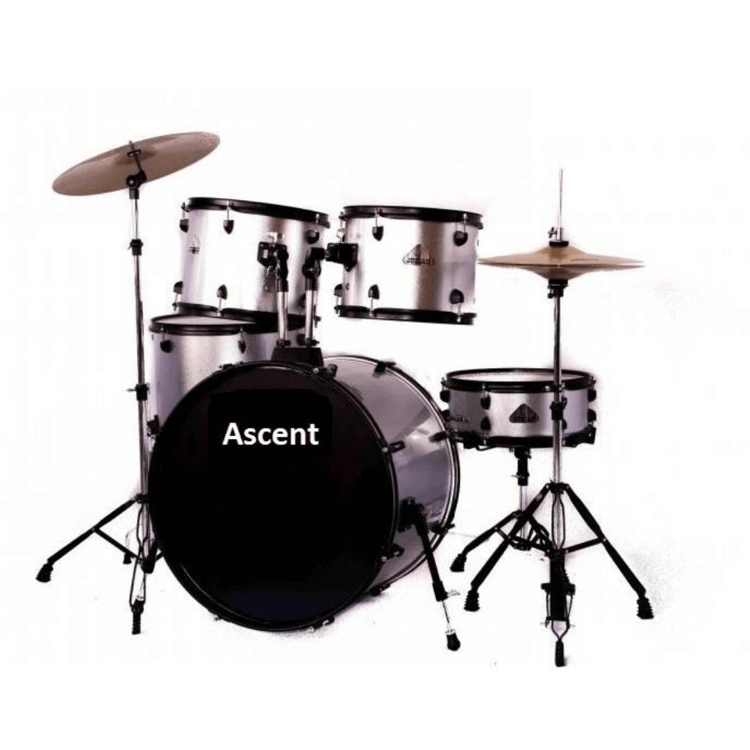 Bateria Acústica Ascent Adulta Completa