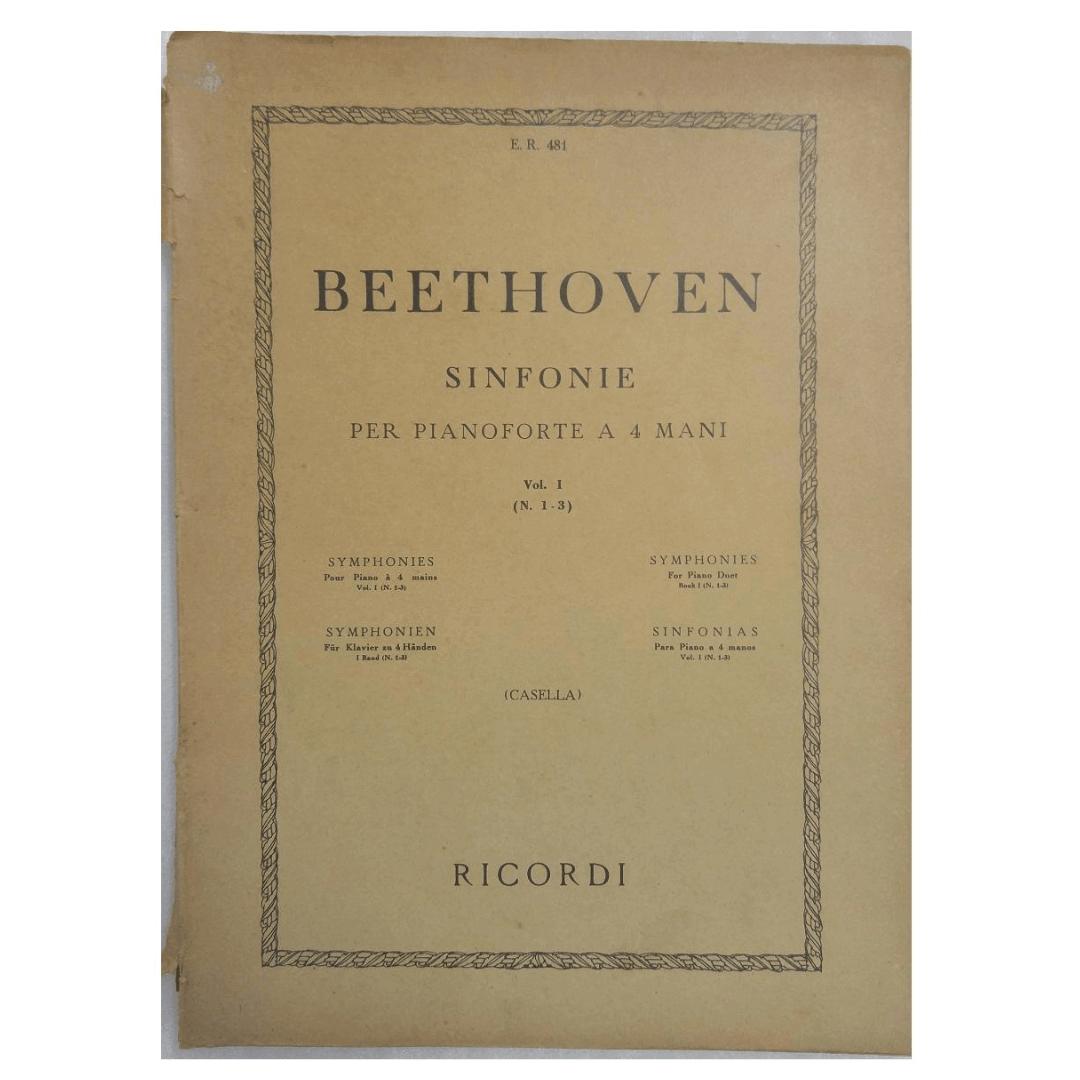 Beethoven Sinfonie Per Pianoforte a 4 Mani Vol. I ( N. 1-3 ) Casella E.R.481