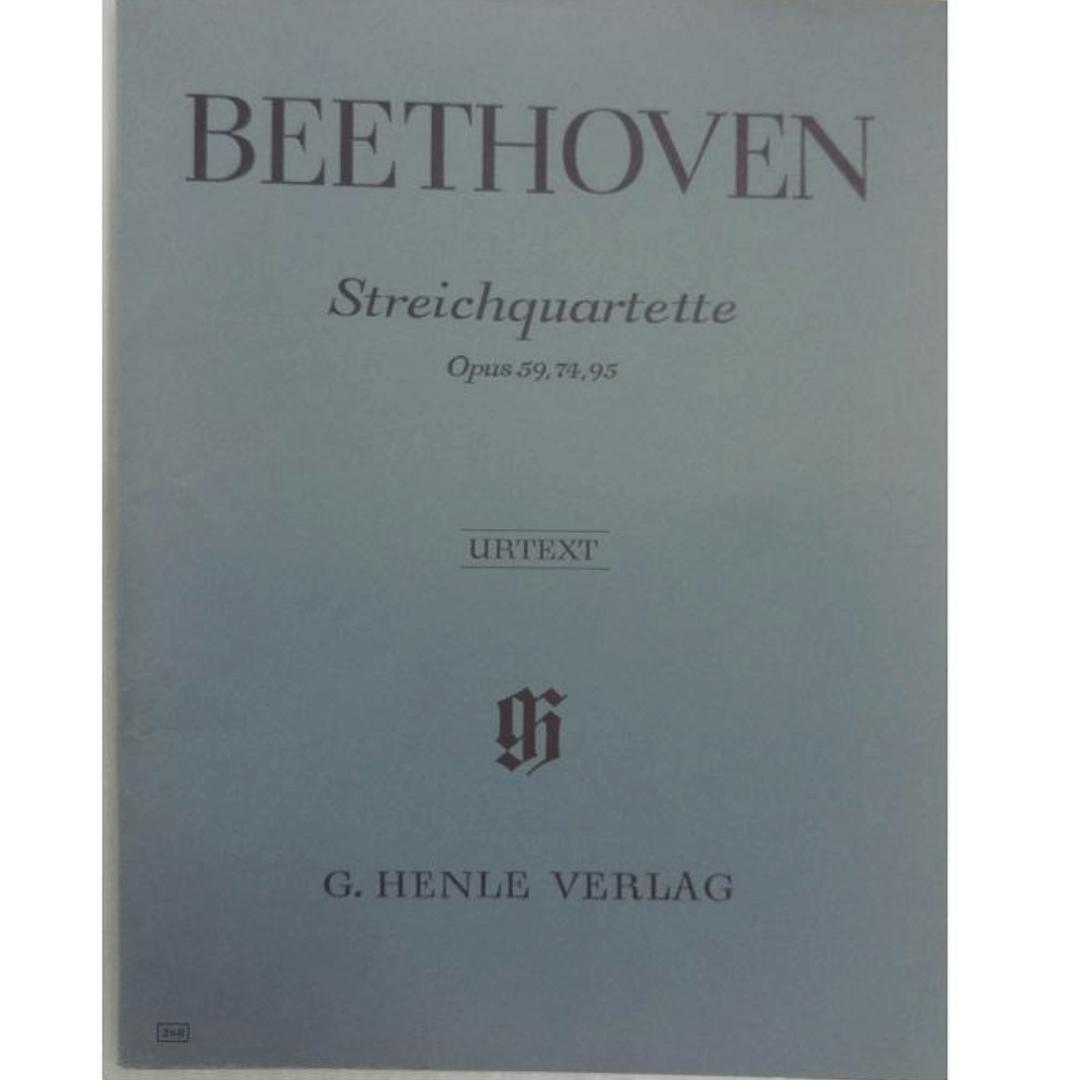 Beethoven Streichquartette Opus 59,74,95 - Urtext G. Henle Verlag - 268