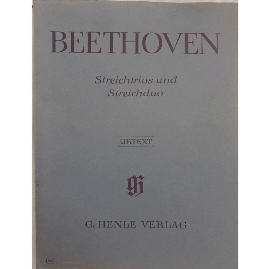 Beethoven Streichtrios und Streichduo - Urtext - G. Henle Verlag - 192