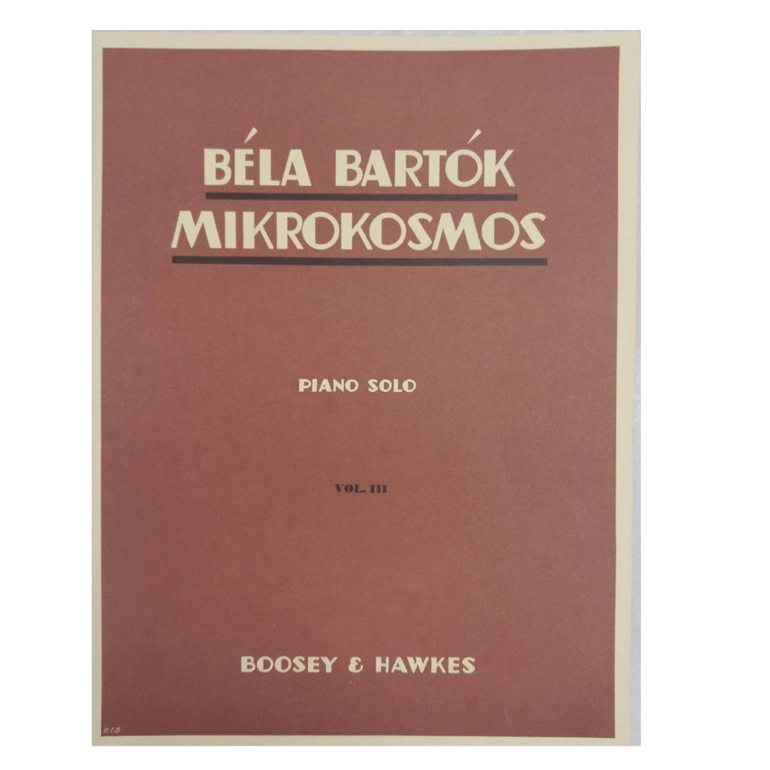 Béla Bartók Mikrokosmos Piano Solo Volume 3 - Boosey e Hawkes