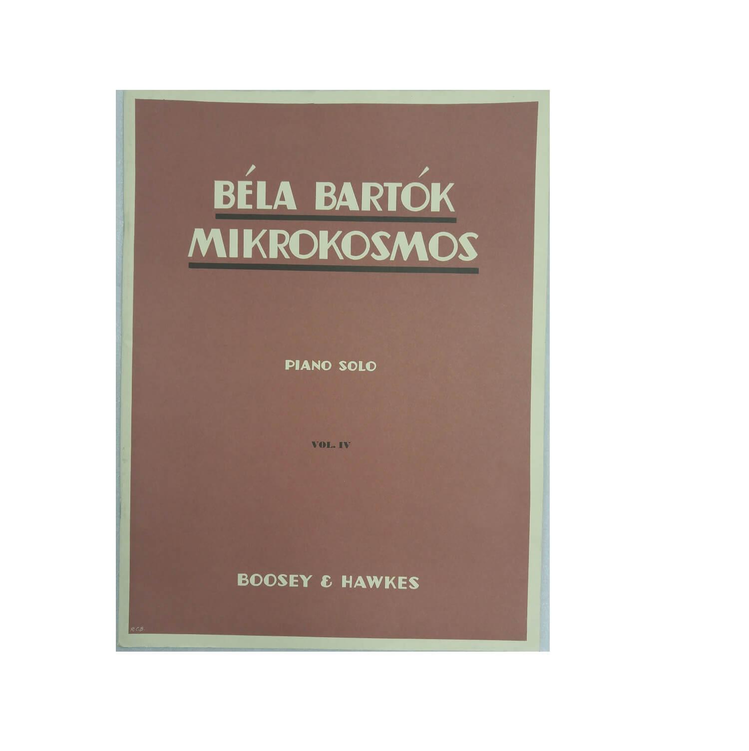 Béla Bartók Mikrokosmos Piano Solo Volume 4 - Boosey e Hawkes