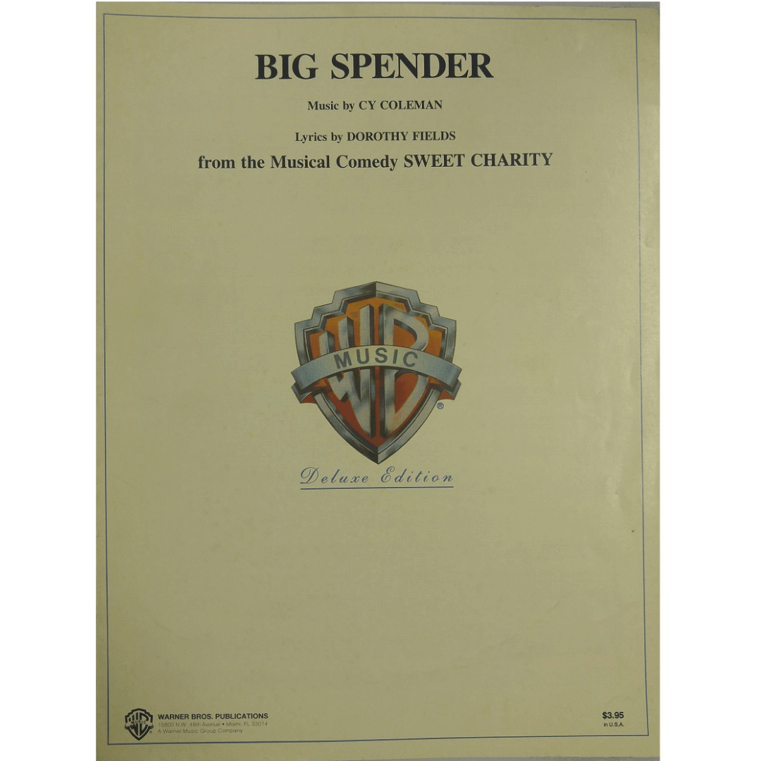 Big Spender Music by CY Coleman Lyrics by Dorothy Fields - VS5629