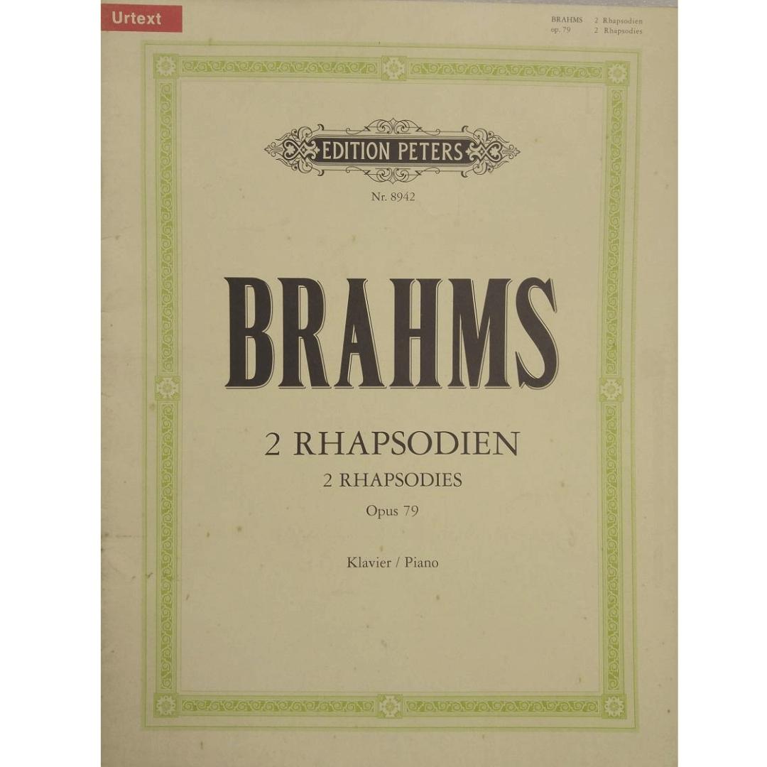 Brahms 2 Rhapsodien 2 Rhapsodies Opus 79 Klavier / Piano - Urtext - Edition Peters Nr. 8942