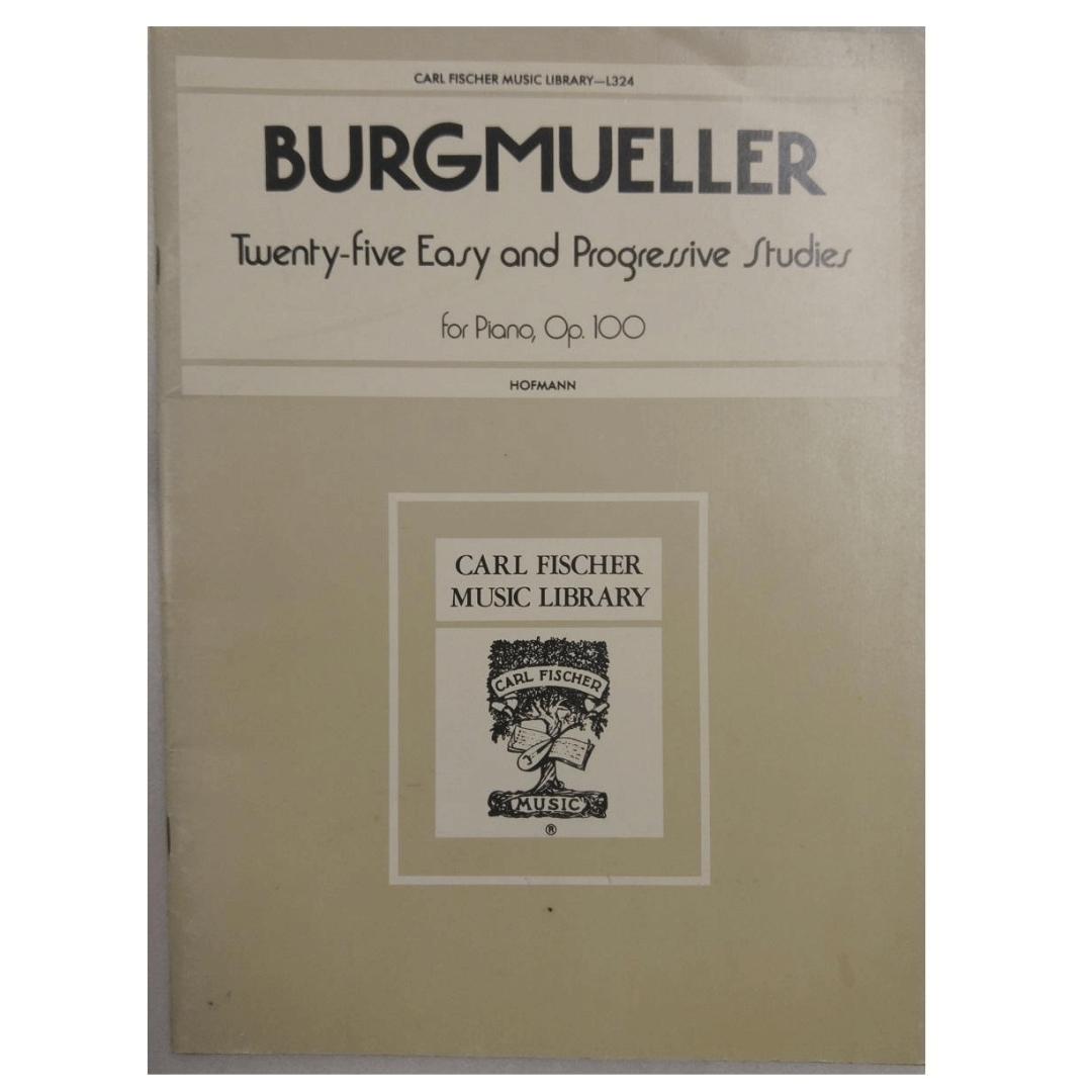 Burgmueller Twenty - five Easy and Progressive Studies for Piano, Op. 100 Hofmann L 324