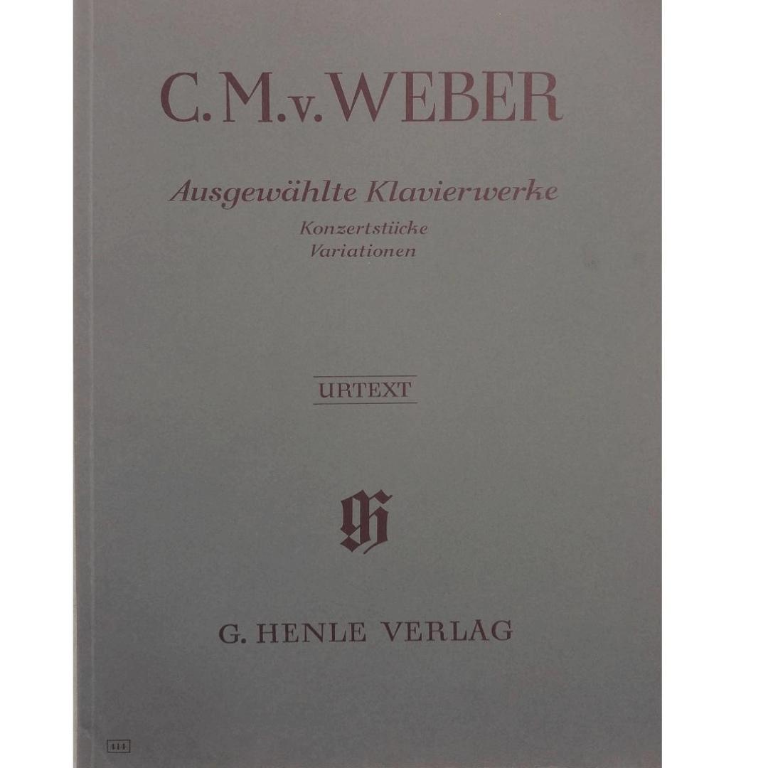 C.M.v Weber Ausgewahlte Klavierwerke Konzerstiicke Variationen - Urtext - G. Henle Verlag - 414