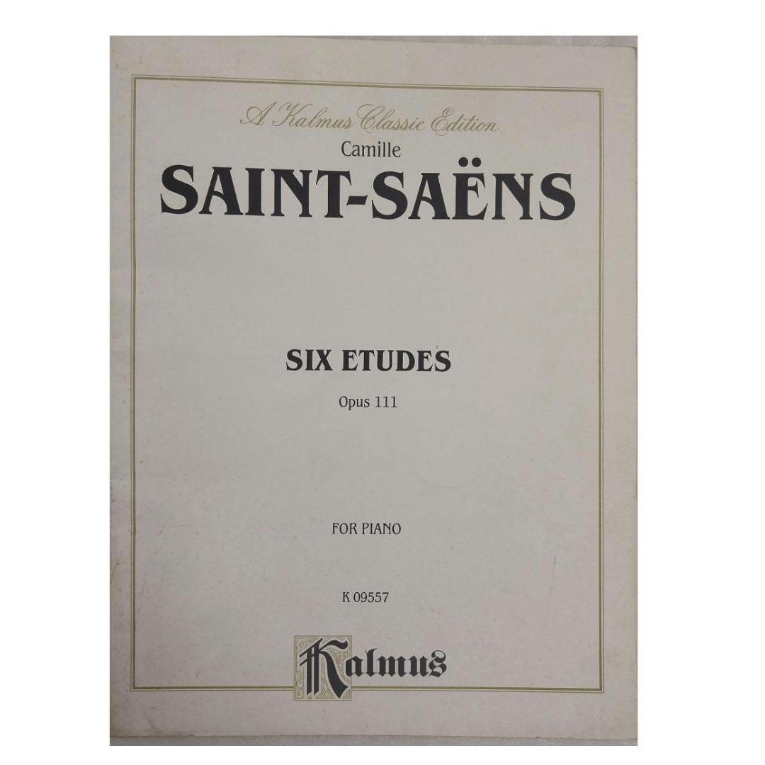 Camille Saint - Saens Six Etudes Opus 111 for Piano K 09557 Kalmus