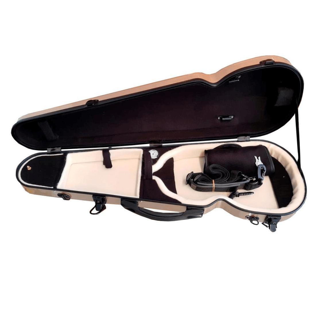 Case de Fibra de Vidro Para Violino Mavis VLS94FS Gold